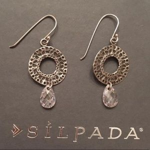 Silpada .925 hammered Sterling silver earrings